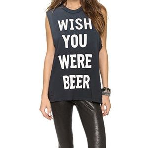 UNIF Wish You Were Beer Sleeveless Top 🍺
